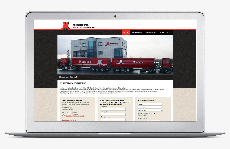 Referenz - Mimberg Spedition-Baustoffe GmbH & Co. KG